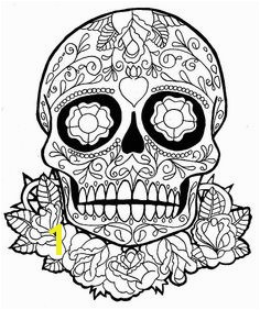 Coloring Pages Terrific Sugar Skull Coloring Pages Coloring Page AZ Coloring Pages Find this Pin and more on Day of the dead