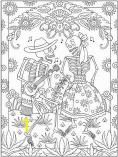 Dis de Los muertos couple Coloring pages