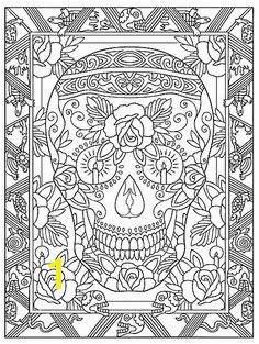 Creative Haven Day The Dead Coloring Book Dover Publications Sample Page