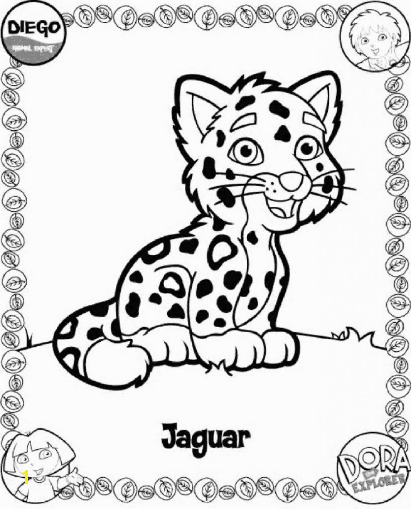 Insider Diego And Baby Jaguar Coloring Pages Print