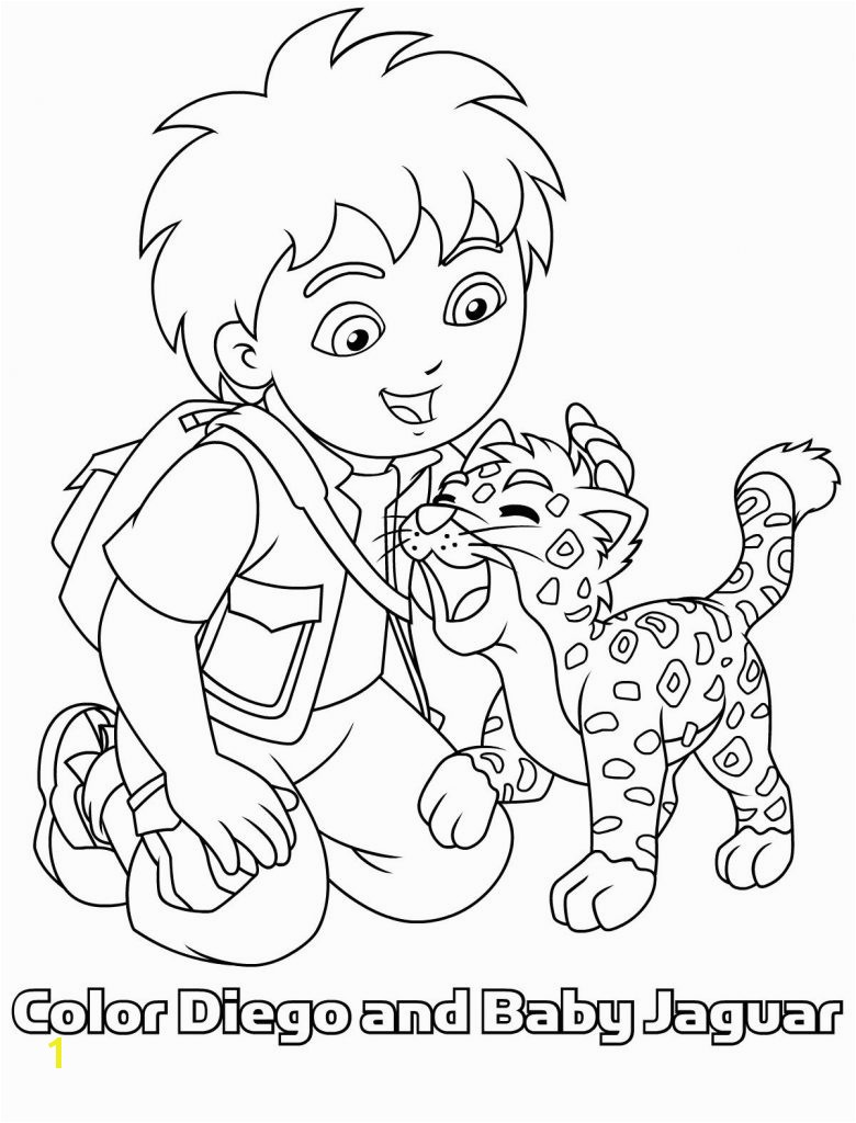 Magic Diego And Baby Jaguar Coloring Pages En Samen Op 1 Kleurplaat Clip Art