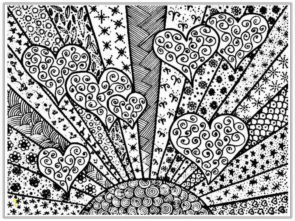 Free Difficult Coloring Pages Inspirational Best Coloring Page for Adult Od Kids Simple Floral Heart with