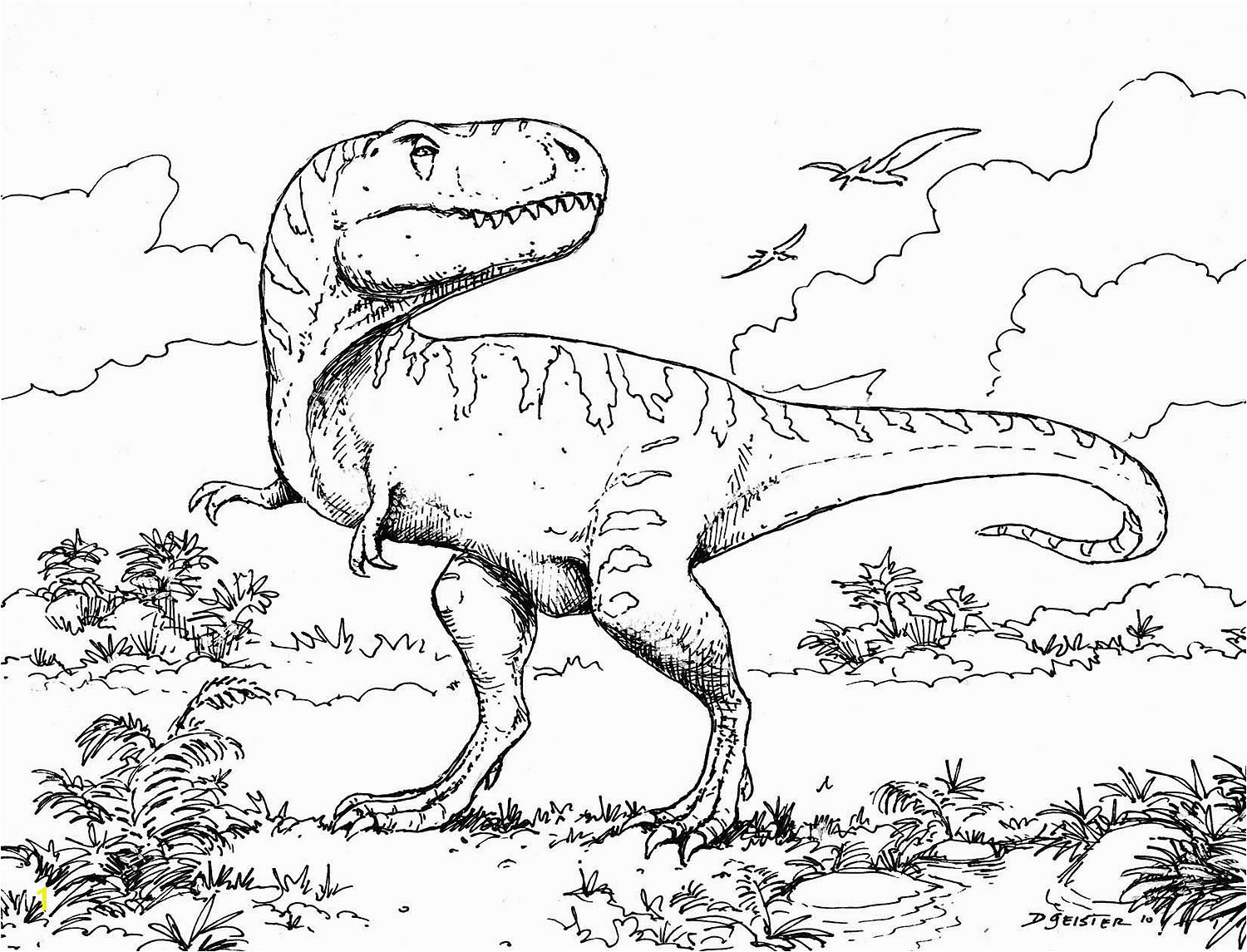 Dinosaur Printable Coloring Pages Dinosaur Coloring Pages Kids Free Free Dinosaur Coloring Pages 4