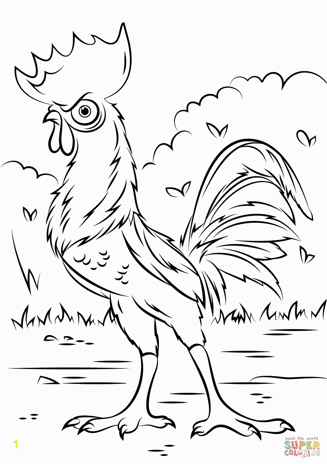 Disney Printable Coloring Pages Moana Heihei Rooster From Moana Super Coloring Omalovánky