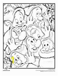 Seven Dwarfs Coloring Page