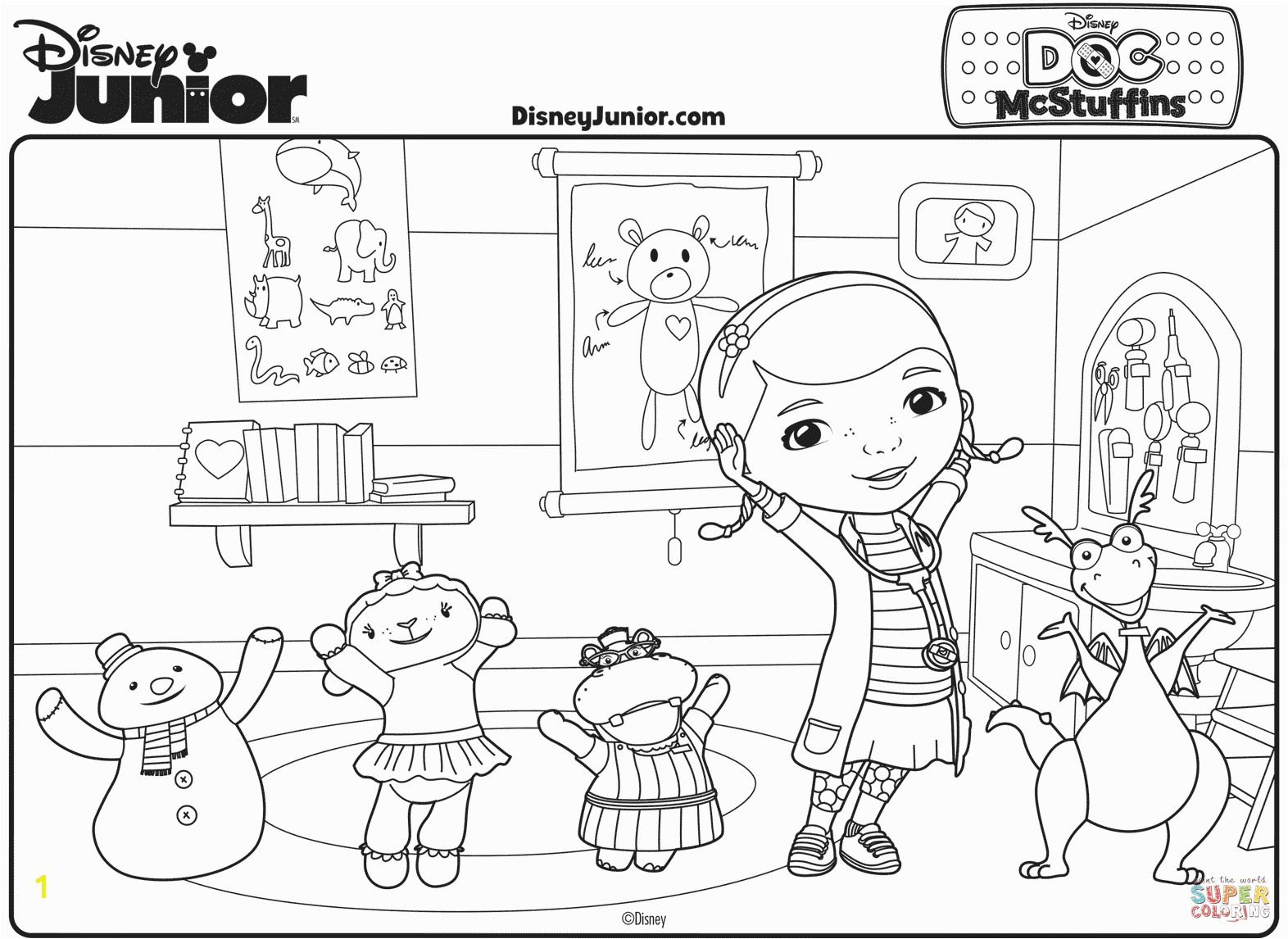 Doc Mcstuffin Coloring Pages Doc Mcstuffin Coloring Pages Yintan