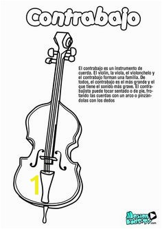 Double Bass Coloring Page 132 Best Dibujos Para Colorear Coloring Pages Images On Pinterest