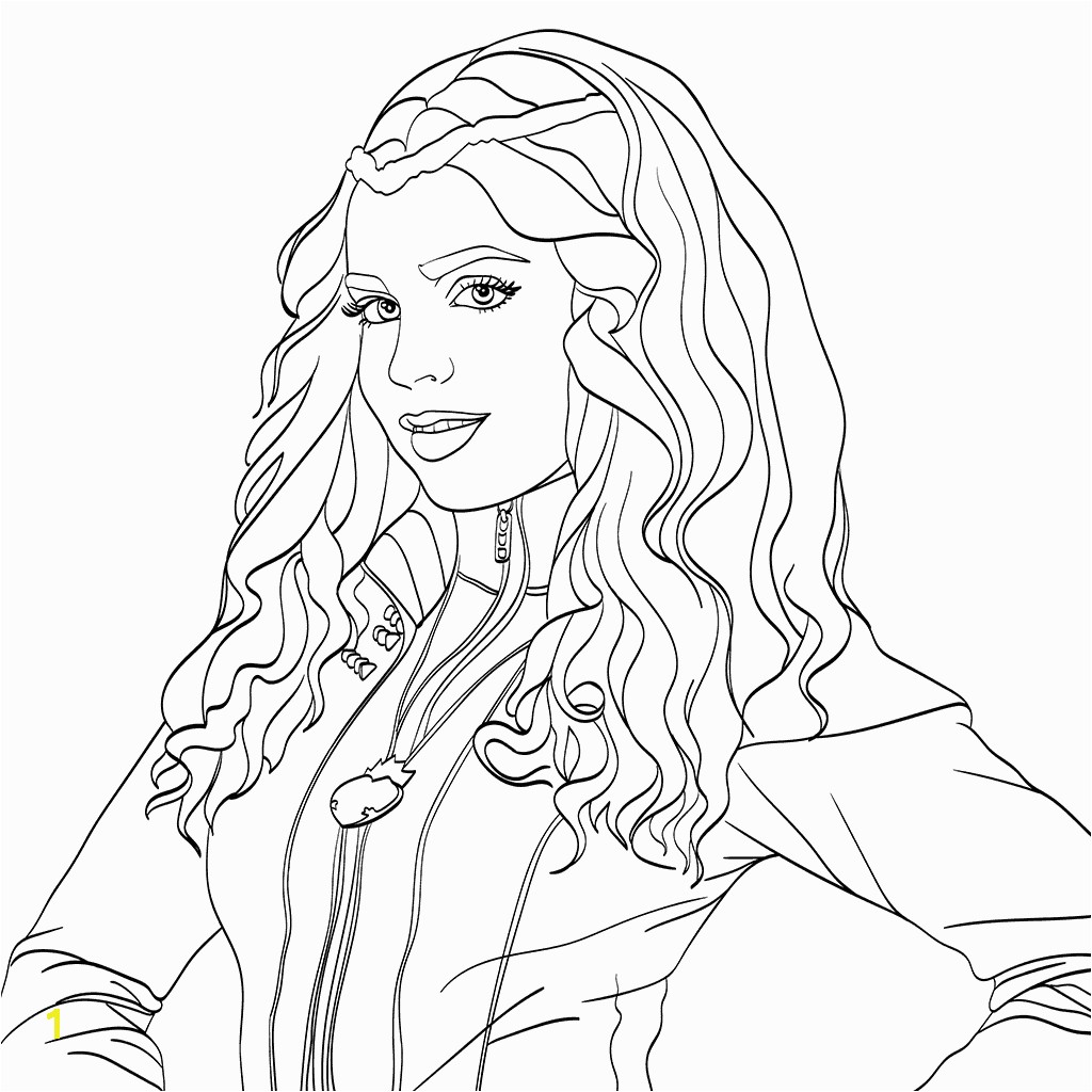 Evie Descendants 2 Coloring Page Milahny Bday Pinterest Evie Coloriage Descendants Evie