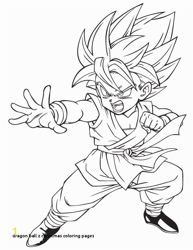 Dragon Ball Z Christmas Coloring Pages Dragon Ball Coloring Pages Best Coloring Pages for Kids