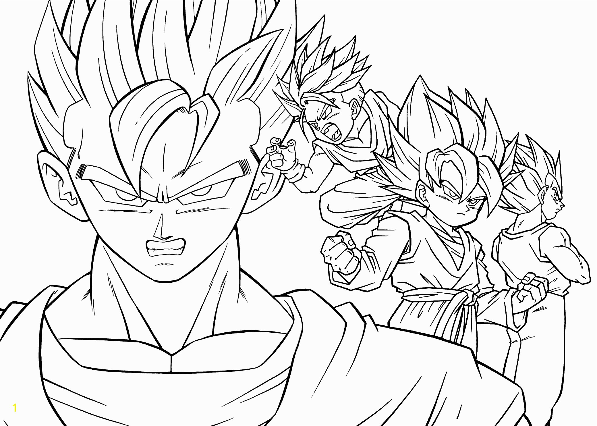 Dragon Ball Z Coloring Pages Ve a And Goku Printable Dbz coloring pages for adults