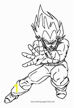 Dragon Ball Z color page Coloring pages for kids Cartoon