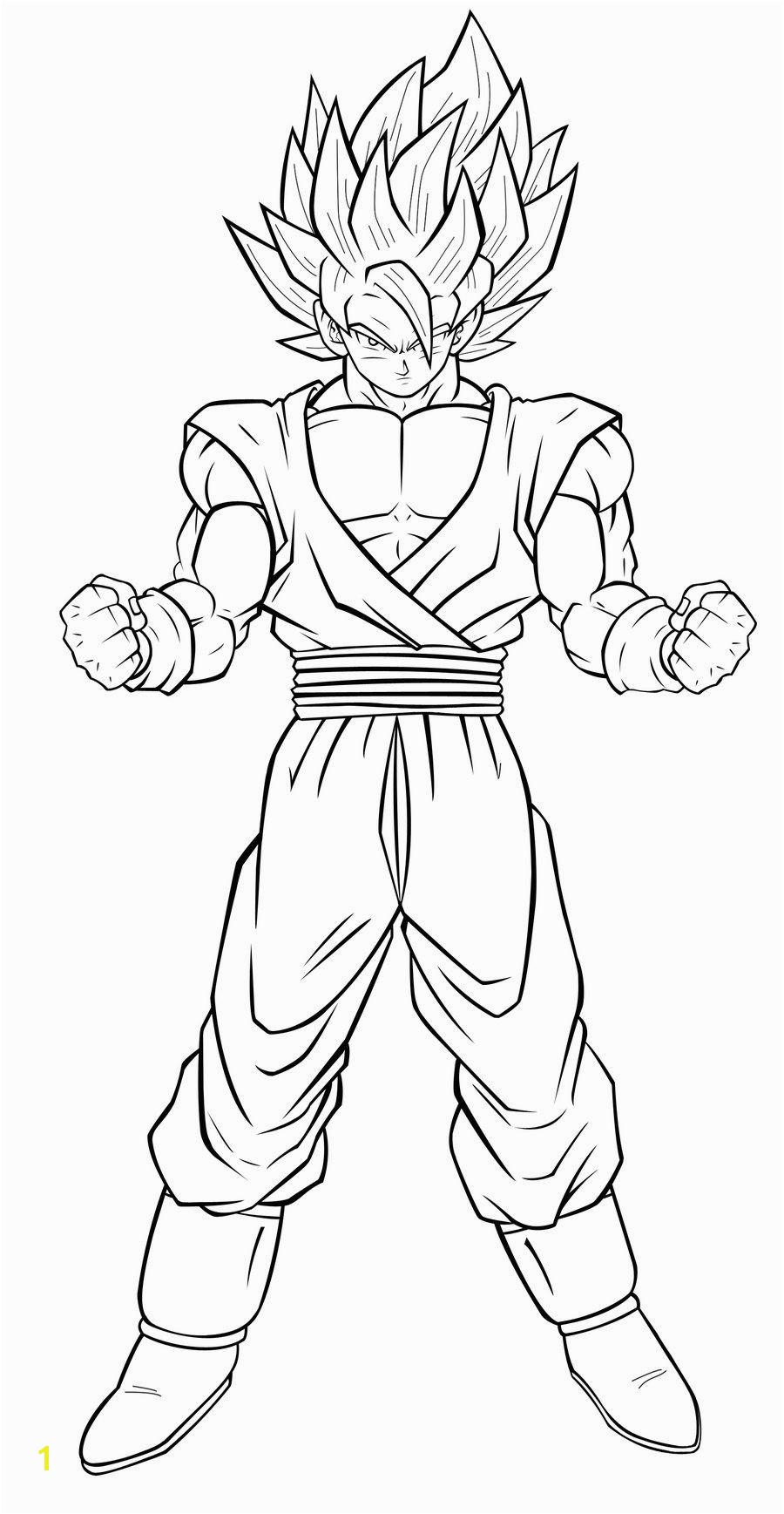 Goku Super Saiyan 4 Coloring Pages images