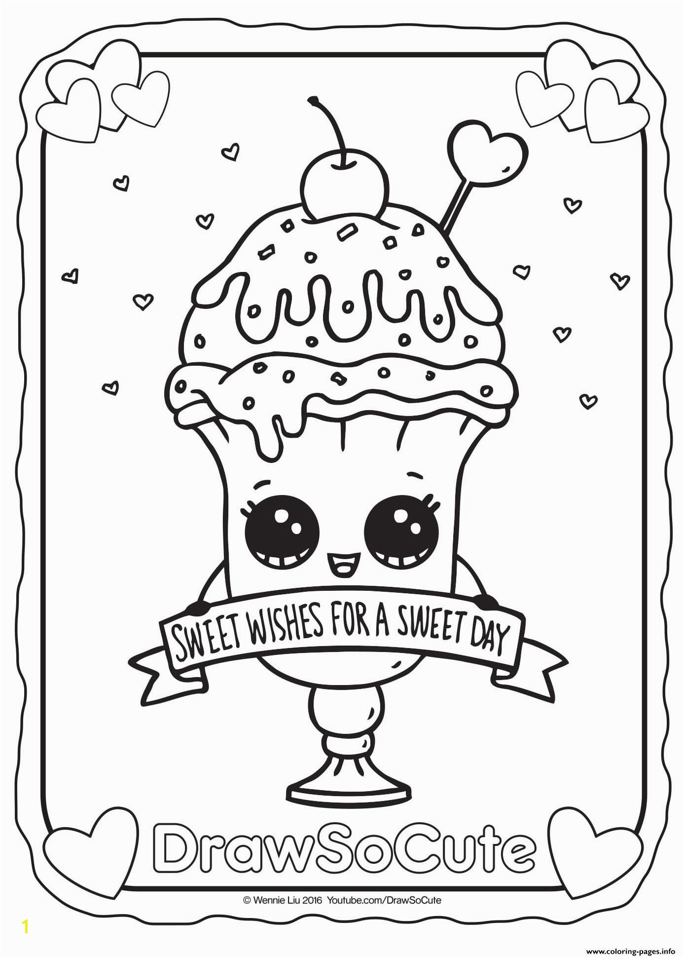 Cute Coloring Pages for Adults Valid Cute Coloring Pages Valentine Ice Cream Sundae Draw so Printable