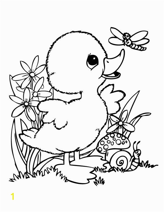 Cute Coloring Sheets for Kids Cute Baby Duck Coloring Pages Google Search