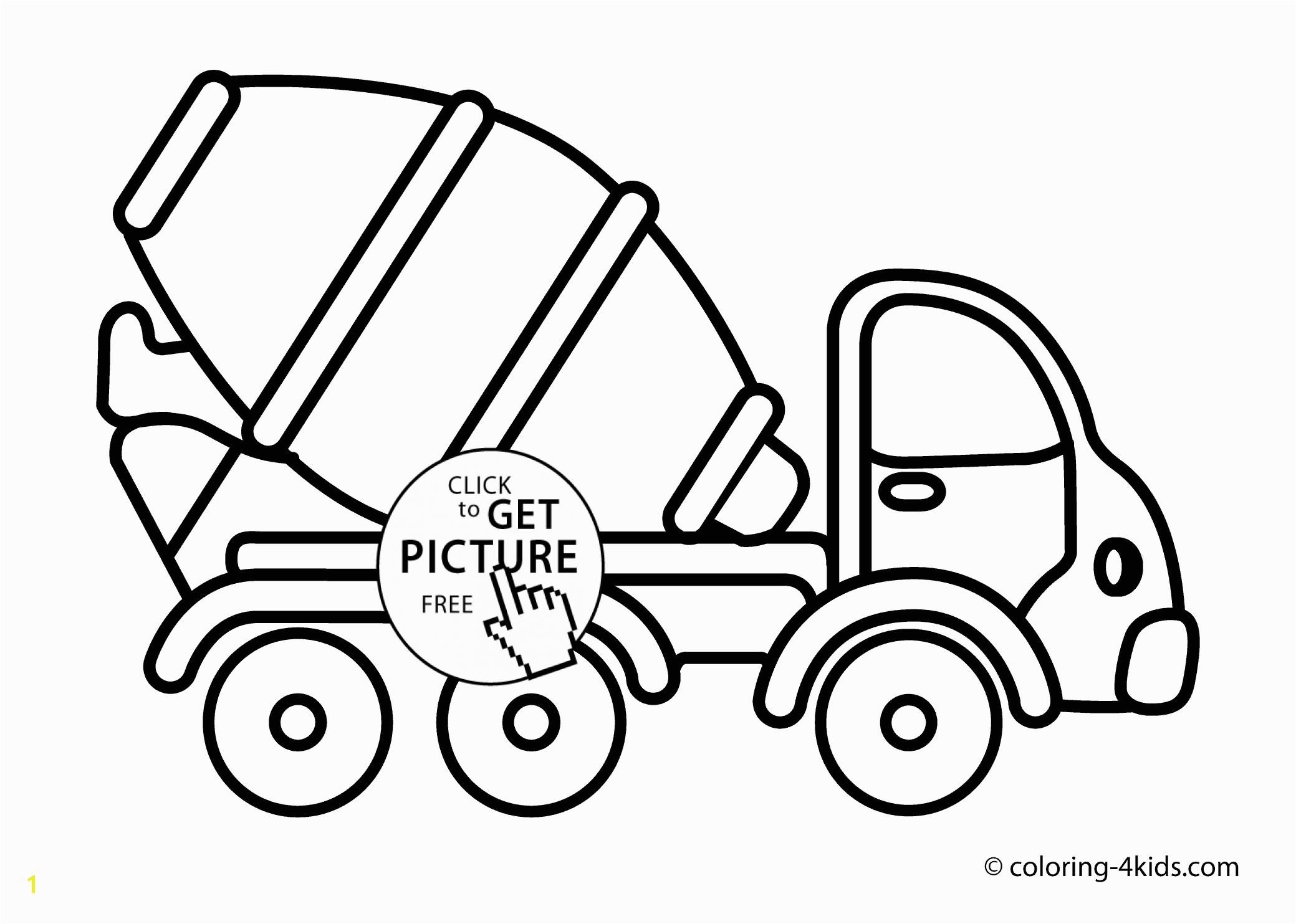 2079x1483 Cement mixer truck Transportation coloring pages concrete truck