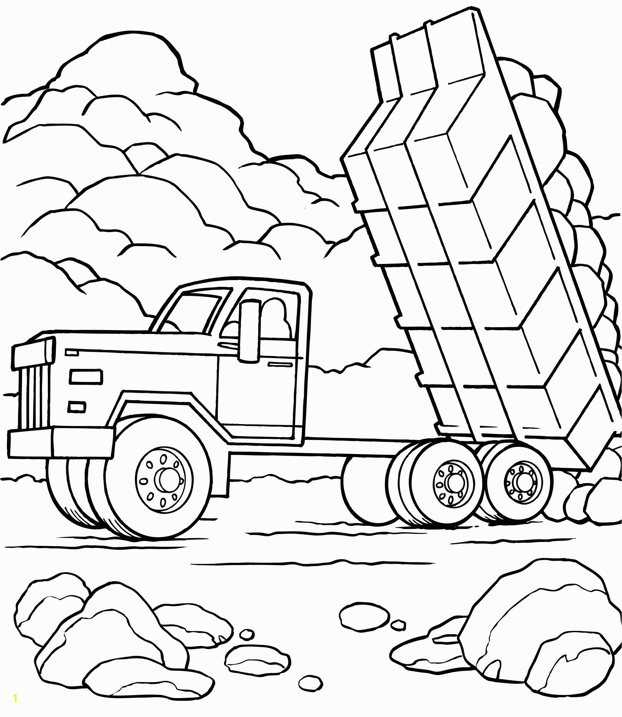Vehicle Coloring Pages For Kids Crafting Dump Truck Coloring 11 Tipper Full Od Sand Page Dump
