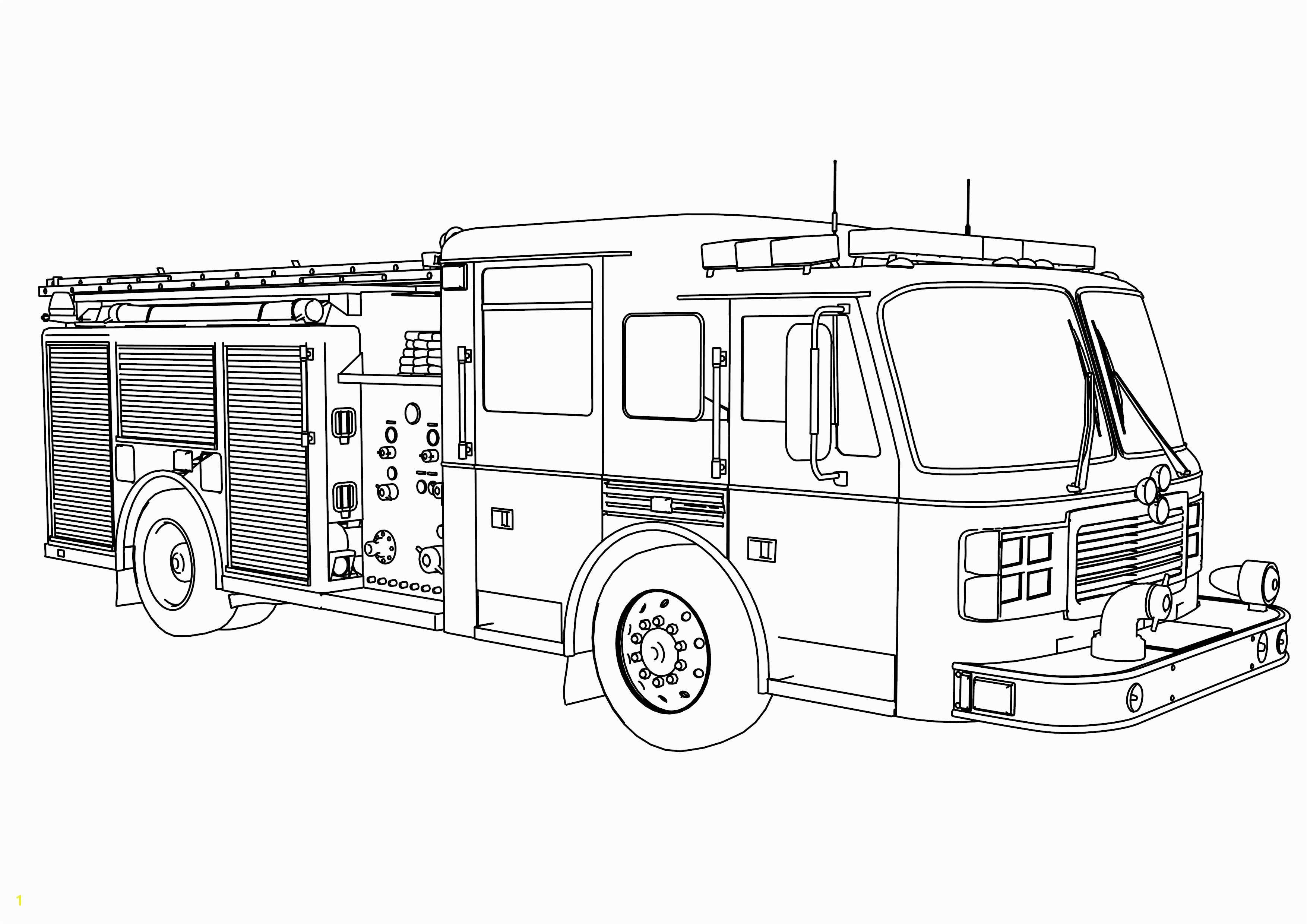 Fire Truck Coloring Pages Coloring Image Detail Name Extraordinary Fire Truck Coloring Page 4s