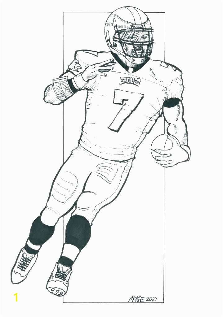 coloring Football Coloring Pages Player Sheet Page Eagles Players Colouring