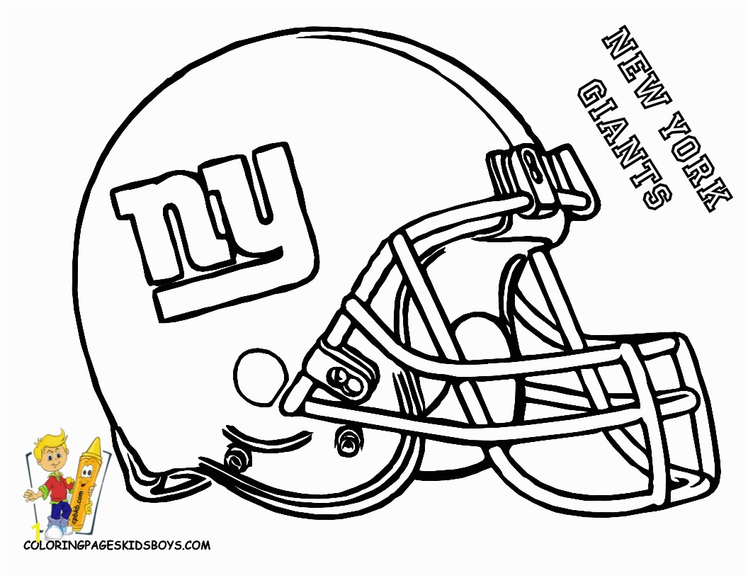 NY Giants free printable coloring helmet