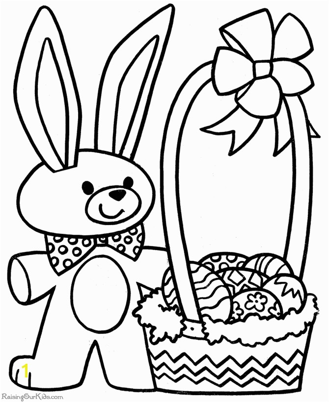 Easter Pages to Print and Color Printable Easter Coloring Pages 005