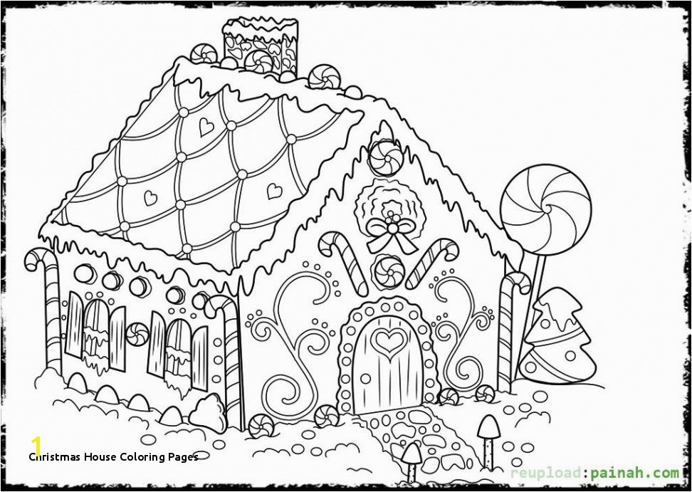 Christmas House Coloring Pages Easy Christmas Coloring Pages Free Beautiful Christmas Drawing