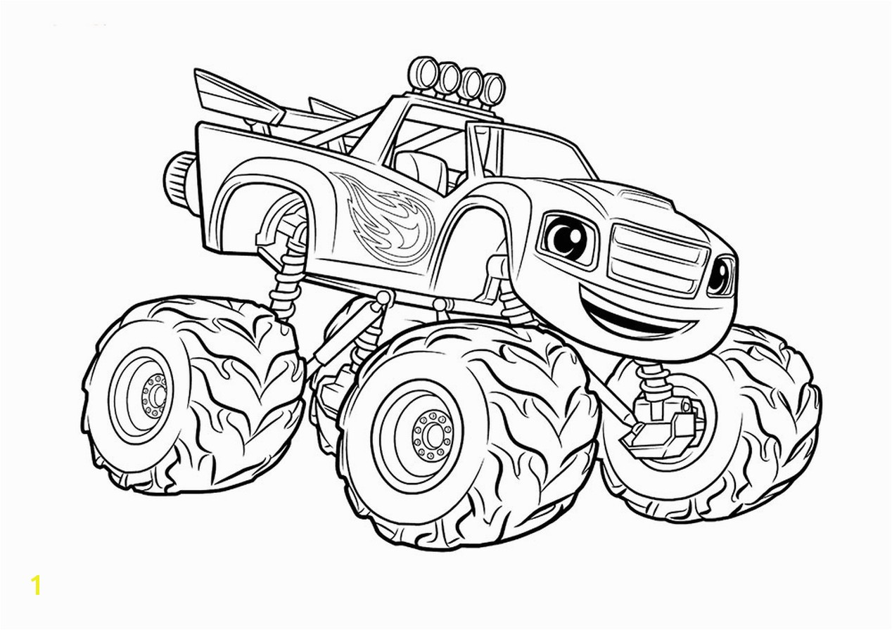 Get This Monster Truck Coloring Page Free Printable For Kids With