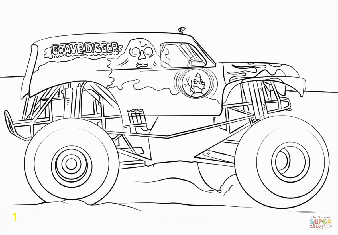 Best Monster Truck Coloring Pages Vector Drawing Art Library And Page