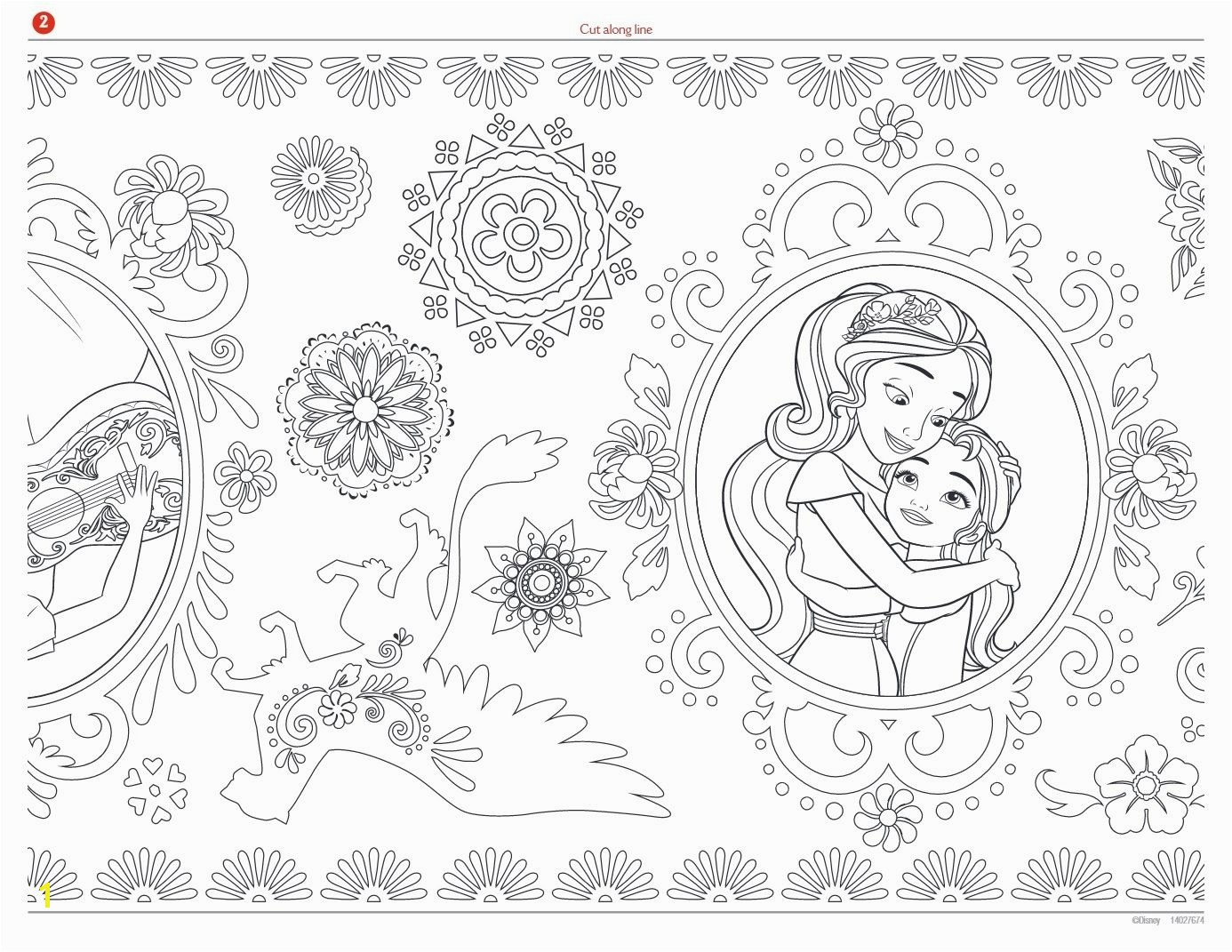 Innovative Elena Avalor Coloring Pages Free Disney New