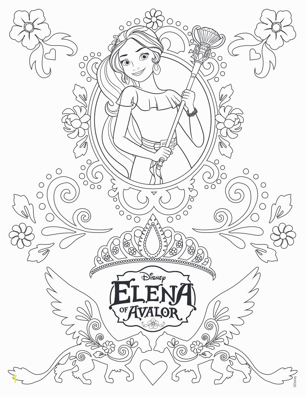 elena of avalor coloring pages 22w elena avalor princesa disney coloring page