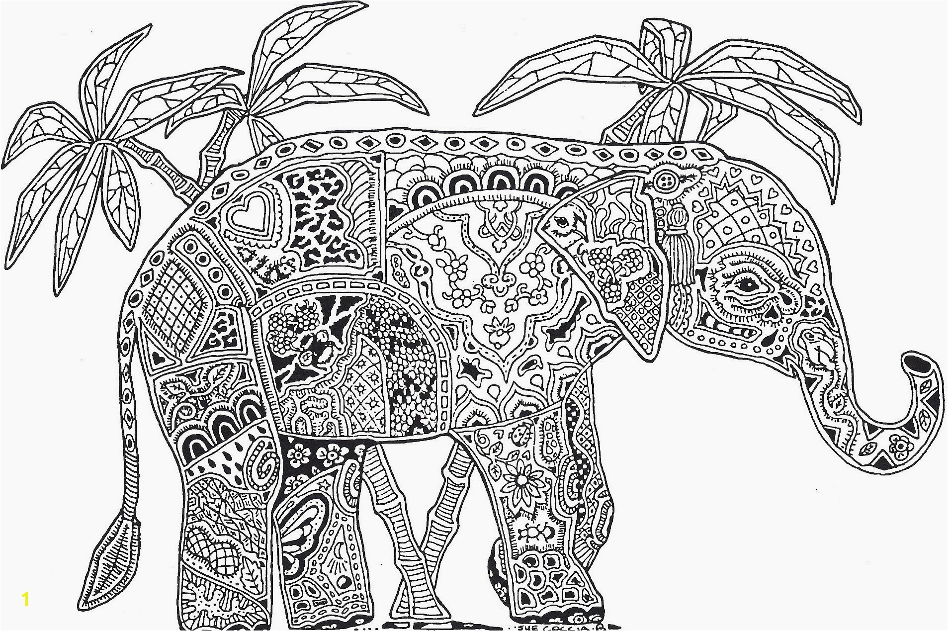 Elephant Mandala Coloring Pages Galleryindian Elephant Coloring Pages Printable