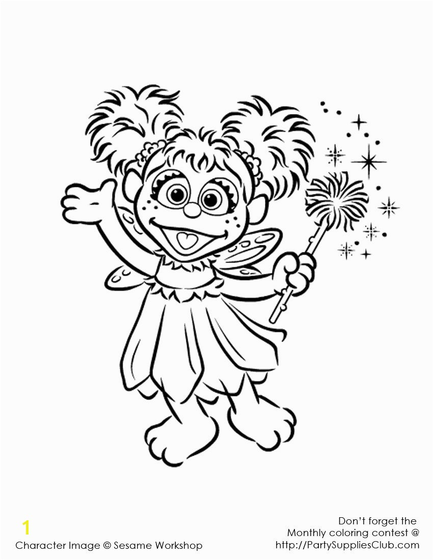 Snowball Coloring Pages Elmo Abby Cadabby