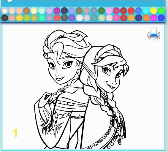 Elsa And Anna Coloring Games For Kids line