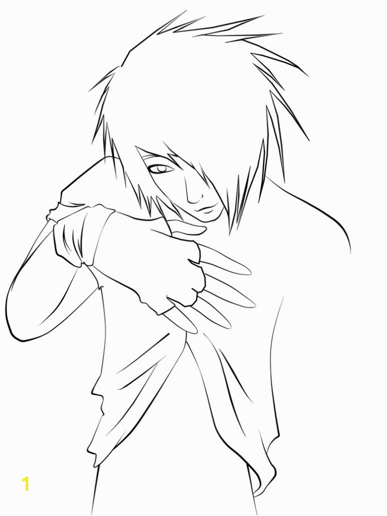 Emo Boy Coloring Pages