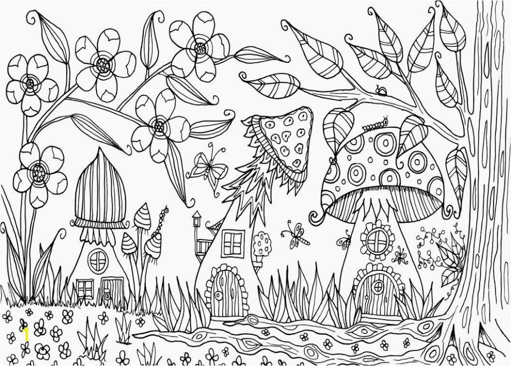 Garden Coloring Pages Awesome Beautiful Enchanted forest Coloring Pages Pdf
