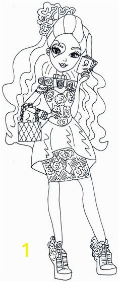 Free Printable Ever After High Coloring Pages Lizzie Hearts