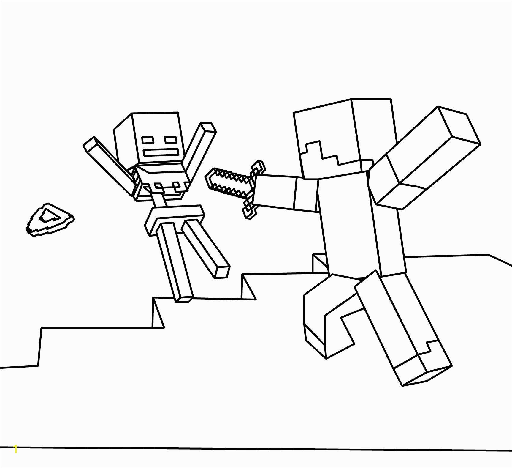 Ezekiel Dry Bones Coloring Page Best Best Minecraft Coloring Page Coloring Picture Steve and Skeleton Stock