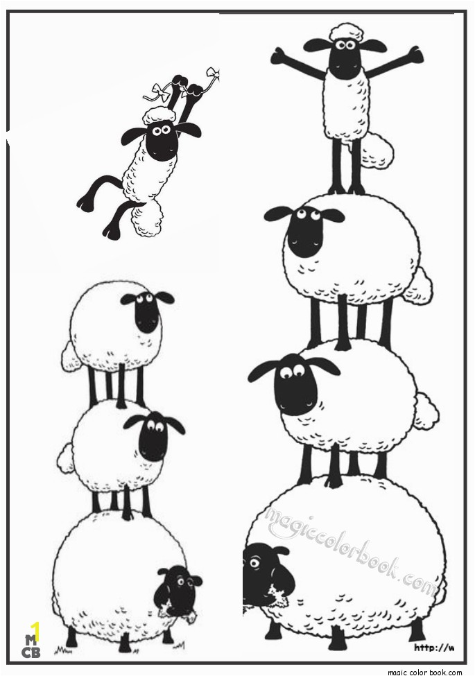shaun sheep free printable coloring pages 09