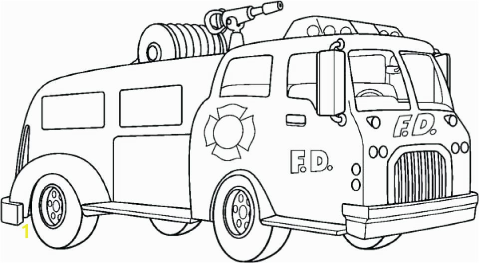 coloring Fire Truck Coloring Pages Free