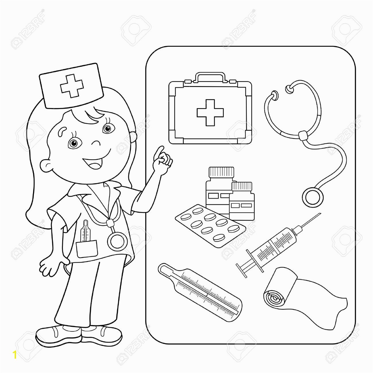 First Aid Coloring Pages for Kids Unique First Aid Coloring Sheet Collection