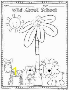FREEBIE Back To School Color Page and Writing Center