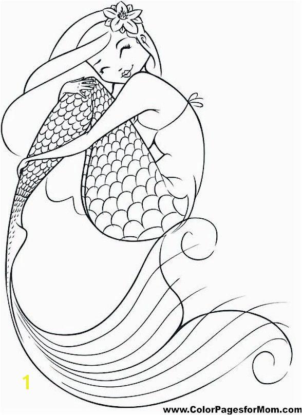 Mermaid Coloring Page 10