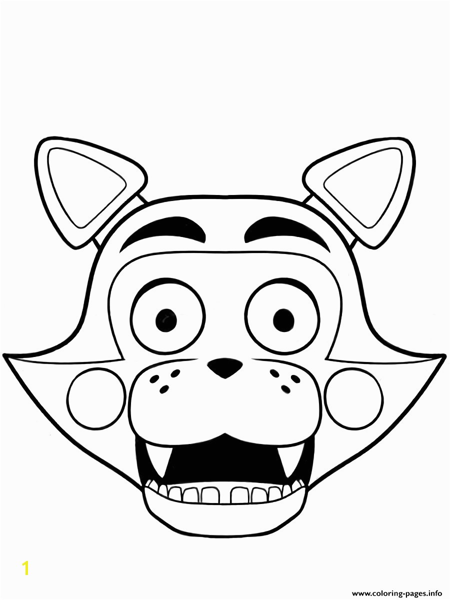Fnaf Coloring Pages Printable New Print Freddy Five Nights At Freddys Foxy Stock