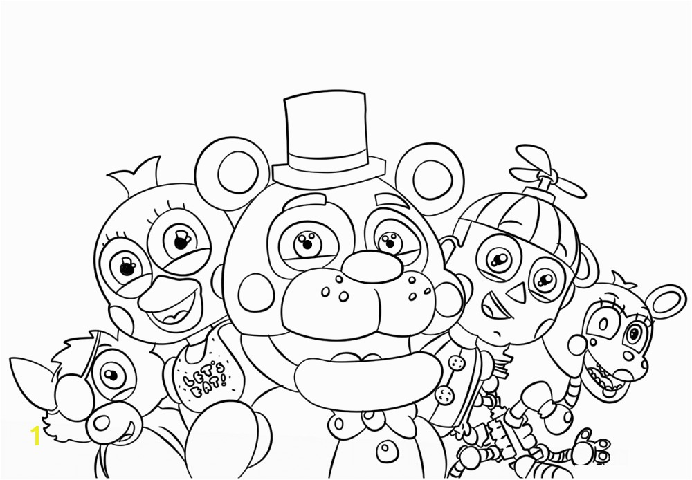 1000x694 5 Nights At Freddy 39s Coloring Pages Free Printable Five Nights At