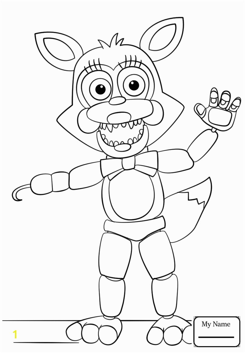 Fascinating Five Nights At Freddy S Coloring Pages Foxy Fnaf Free