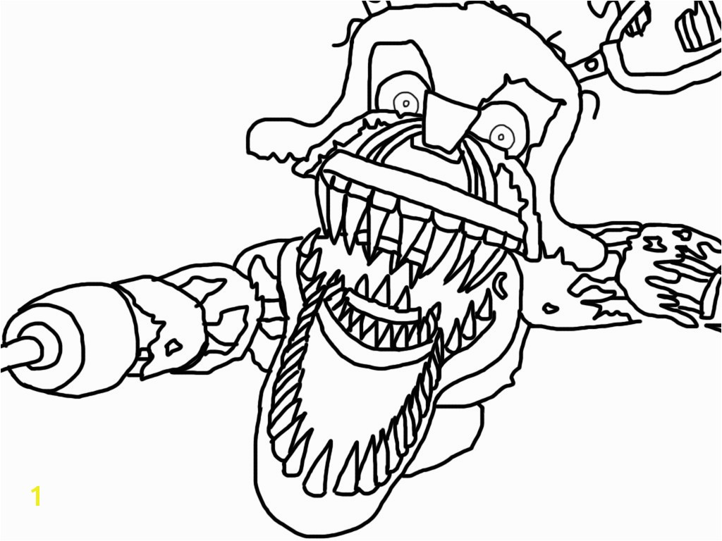 Five Nights at Freddy s Coloring Pages Foxy Luxury Nightmare Foxy Base by Howlinghill Deviantart