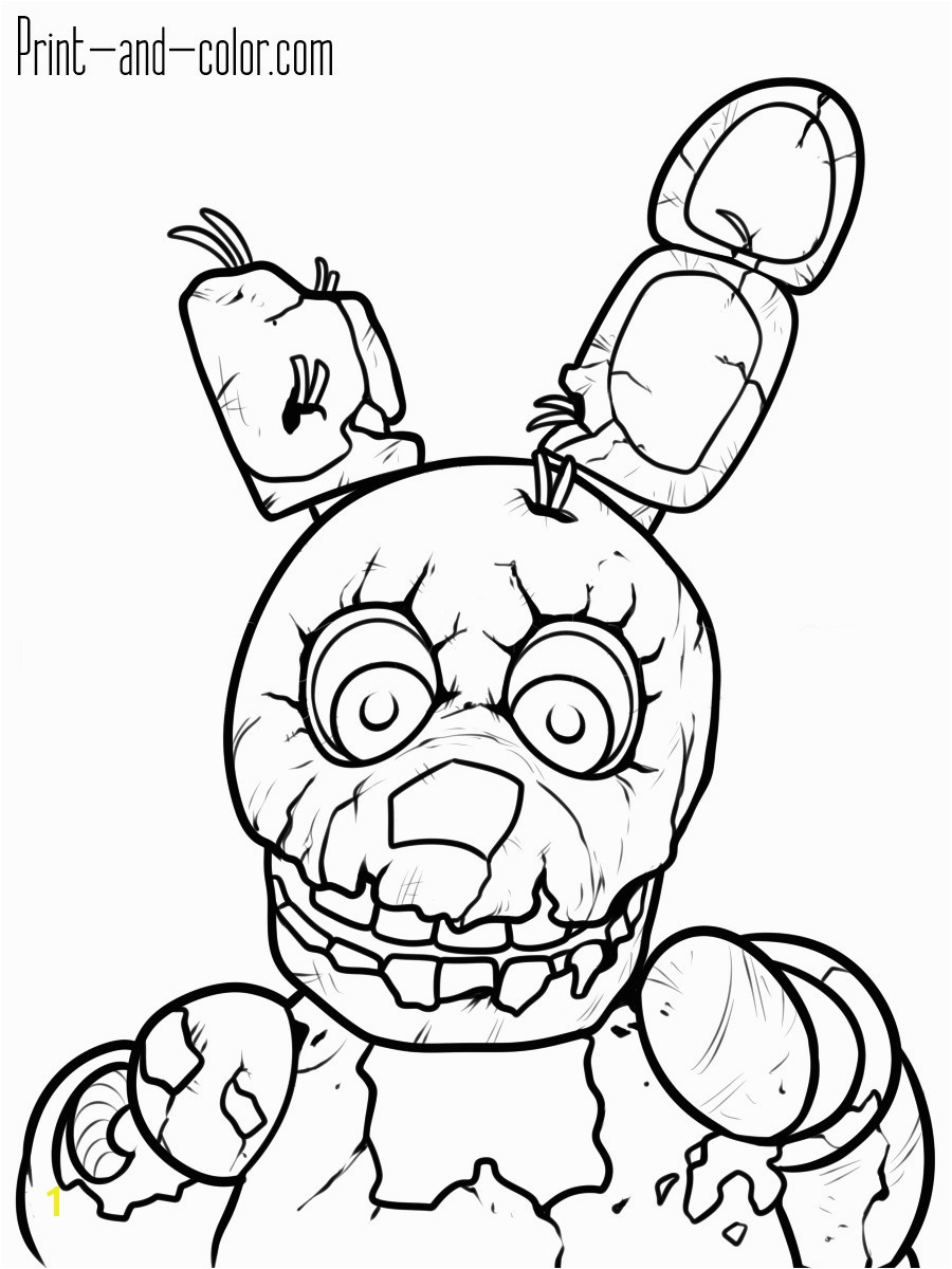 Five Nights at Freddy S Coloring Pages to Print Five Nights at Freddy S for Freddys Coloring Pages Fnaf