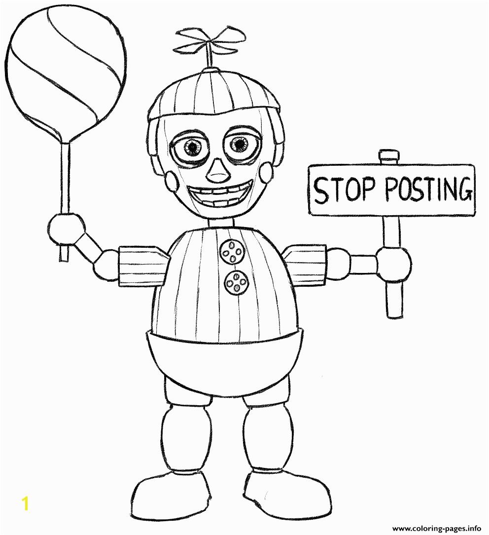 Informative Fnaf Coloring Pages Printable Print Balloon Boy Phantom Five Nights At Freddys