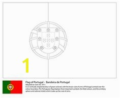 Flag of Portugal coloring page from European flags category Select from printable crafts of