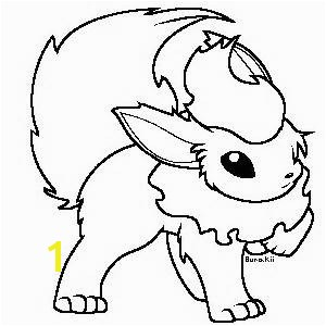 pokemon coloring pages flareon