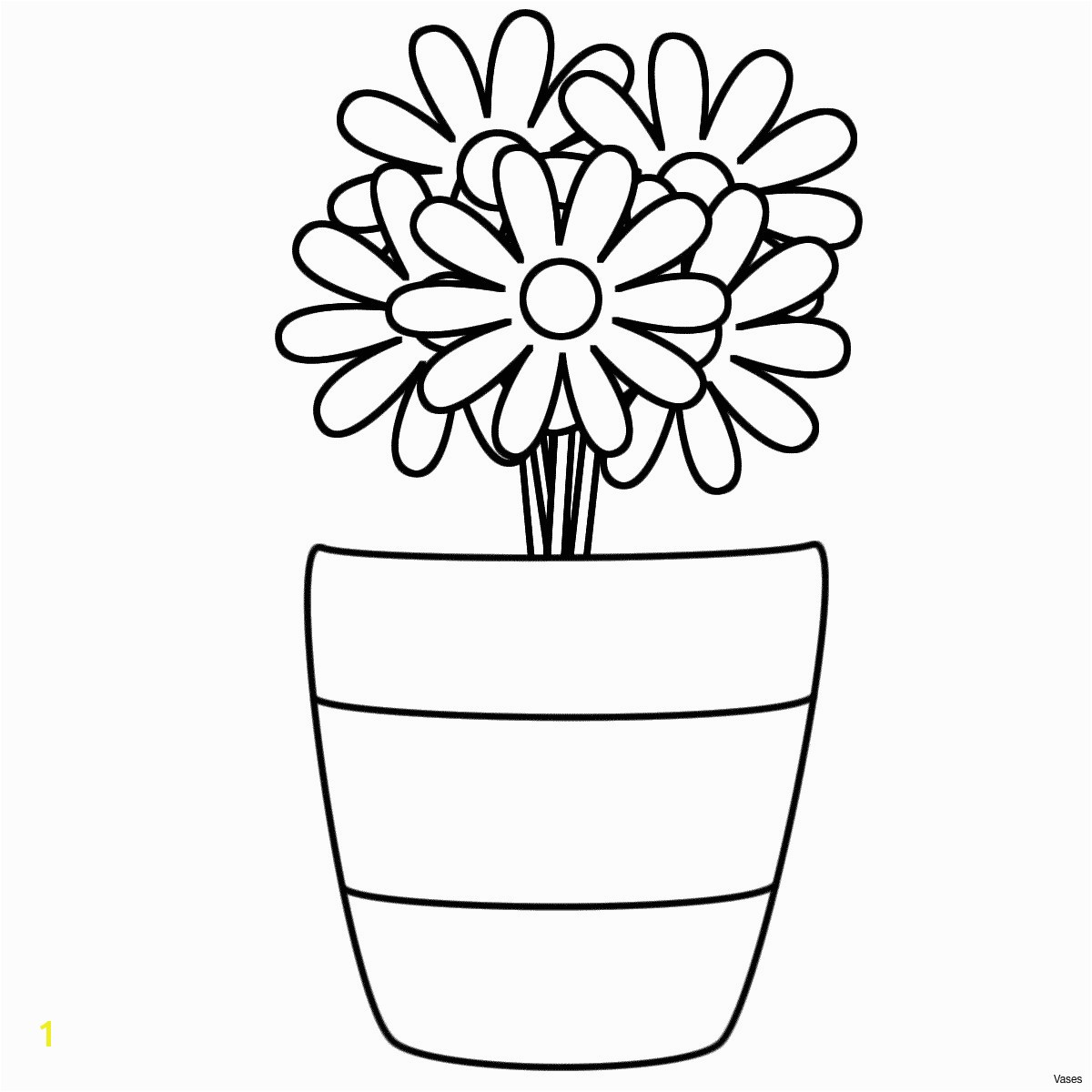 Flower Coloring Pages Printable for Adults New Cool Vases Flower Vase Coloring Page Pages Flowers In